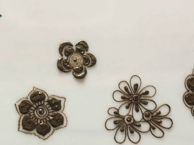 Embellishment 15 : learn various types of flower used in cluster and all types of mehendi design