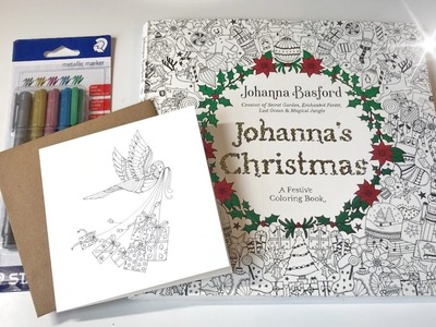 Flip Through: Johanna's Christmas | A Festive Coloring Book By Johanna Basford