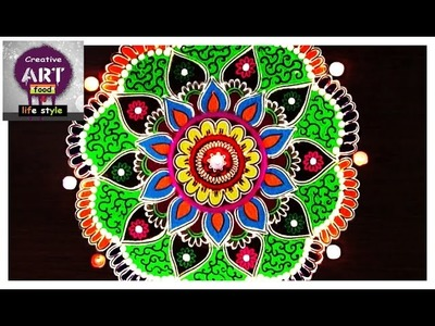 Floral rangoli   Art with Creativity