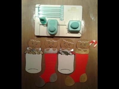 Gingerbread Theme Collab W.Biblescraps +Tutorial Peeking Gingerbread Man W.Mini Alphabet Punch Board