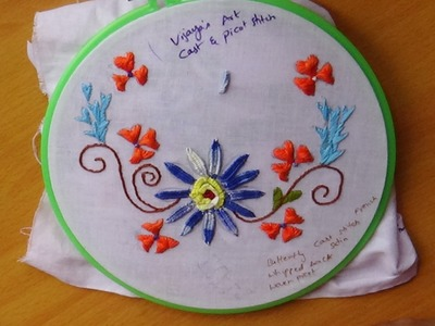Hand Embroidery Designs # 121 - Cast stitch & Picot stitch designs