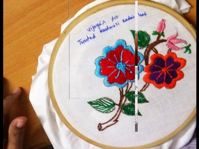 Hand Embroidery Designs # 184 - Twisted Kashmiri Leaf stitch designs