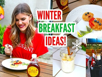 Healthy School Breakfast Ideas: Winter Edition! ❄