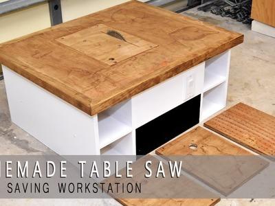 Homemade Table Saw, Jigsaw, Router Workstation  Modular