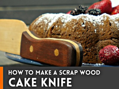 How to make a cake knife from scrap wood. Woodworking