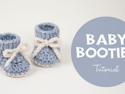 How To Make a Cute and Easy Baby Booties - Winter Snowflake | Croby Patterns