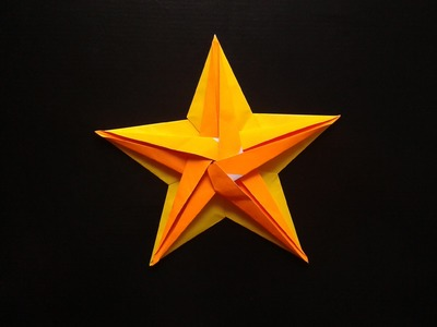 How to make a paper pentagonal  star + accessory part 2 origami
