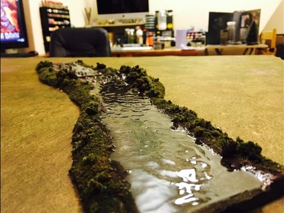 How to make cheap and easy rivers for Tabletop Wargaming
