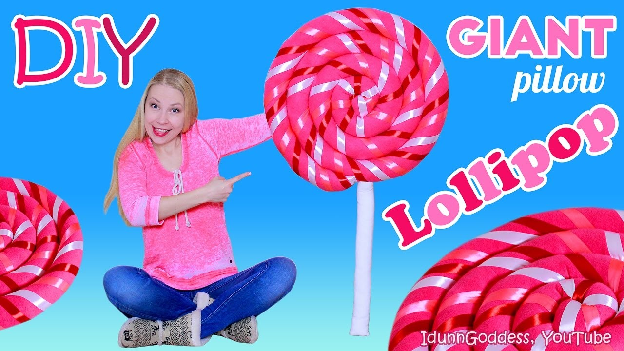 How To Make Giant Lollipop Pillow – DIY Giant Lollipop Floor Cushion