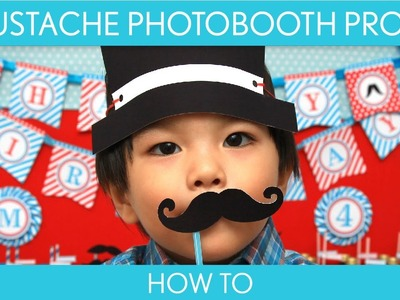 How to Make: Mustache Photobooth Props (Birthday Party). Mustache - B34