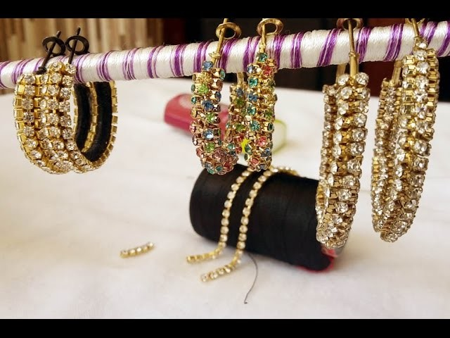 How to make old jhumkas or bangles into a new one video : DIY