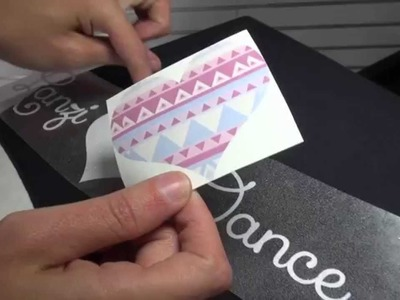 How to Sublimate CAD-CUT® Glitter Flake™ Heat Transfer Vinyl