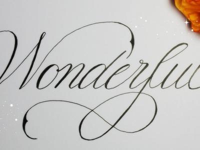 How to write in cursive fancy - wonderful