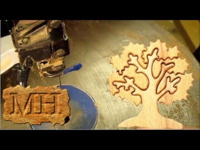Make a wooden tree puzzle on the scroll saw