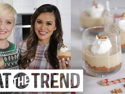 No-Bake Gingerbread Cheesecake With The Domestic Geek | Eat the Trend