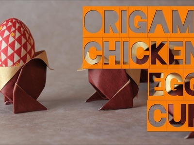 Origami Chicken Egg Cup