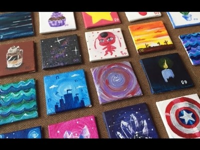 Painting on 22 Tiny Canvases!