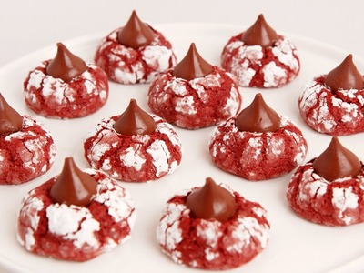 Red Velvet Crinkle Kisses Recipe - Laura in the Kitchen Episode 854