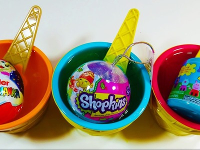 Slime Clay Ice Cream Cup Surprise Kinder Surprise Egg Shopkins 2016 Christmas Ornaments Peppa Pig