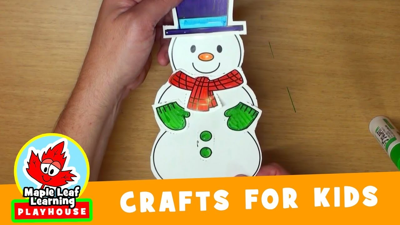 Snowman Craft for Kids   Maple Leaf Learning Playhouse
