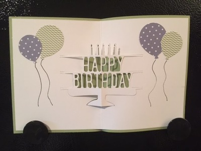 Stampin' Up POP UP BIRTHDAY CARD VIDEO