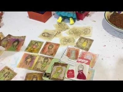 TeaBag Art: Using Gorjuss Mini Stamps & All the Gals