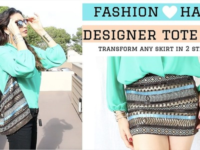 Transform ANY SKIRT into Designer Tote Bags- FASHION HACK