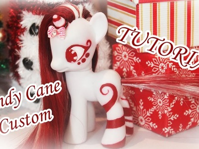 TRANSFORMATION! My Little Pony Candy Cane Custom Tutorial! How to reroot a My Little Pony! DIY!