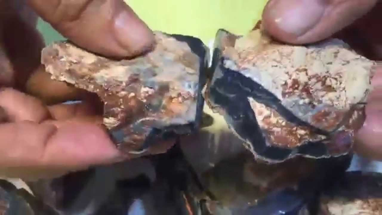 Amazing Black Opal Parcel of Rough from Lightning Ridge with Red Fire Colour