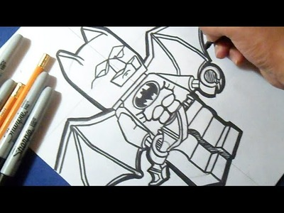 "Cómo dibujar a BATMAN ""LEGO"" 