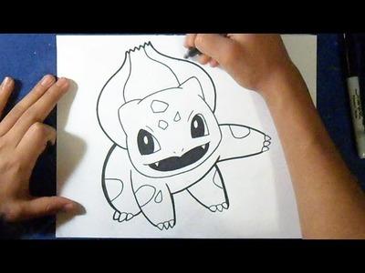 Cómo dibujar Bulbasaur - Pokemon | How to draw bulbasaur