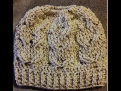 Crochet Owl Messy Bun Hat Free Video Tutorial
