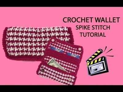 Crochet Wallet Tutorial (Spike Stitch)