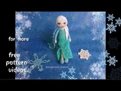 "Crocheted ELSA ""Frozen"" - MANTLE TUTORIAL"