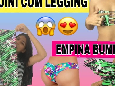 DIY: BIQUINI COM LEGGING #2. BIQUINI EMPINA BUMBUM COM LEGGING