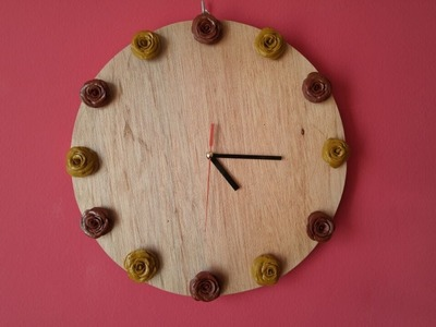DIY Crafts - Home Decor - Making Decorative Wall Clock with Ceramic Paste + Tutorial .