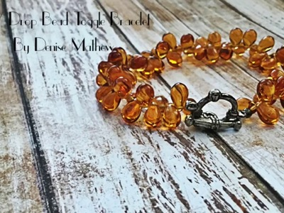 DIY Drop Bead Crystal Toggle Bracelet by Denise Mathew