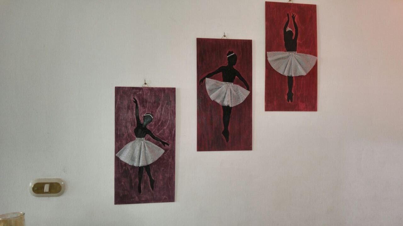 DIY Home Decor - Making Stunning Ballerina drawings + Tutorial .