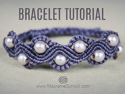 DIY Macramé Wave Bracelet with Beads | Tutorial