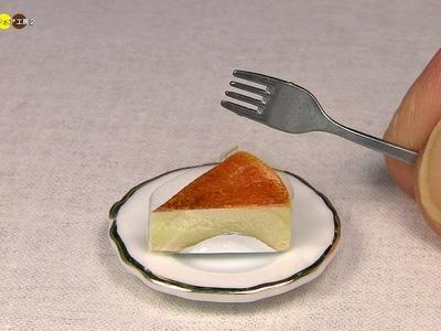 DIY Miniature Baked Cheesecake (Fake food) ミニチュアチーズケーキ作り