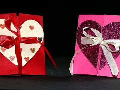 DIY Valentine Cards - Handmade Valentine Heart Card Tutorial