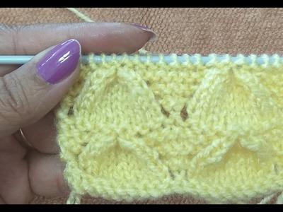 Easy Hindi Knitting Design No # 43 (बुनाई नमूना)