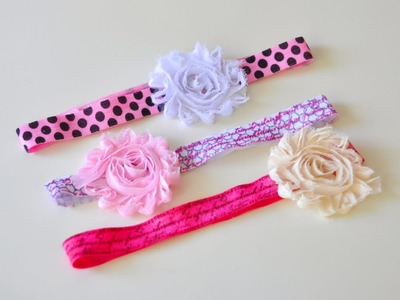 Easy to Make Stamped Elastic Hair Bands