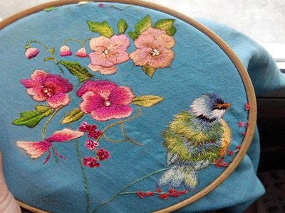 Embroidered bird - Trish Burr | part one