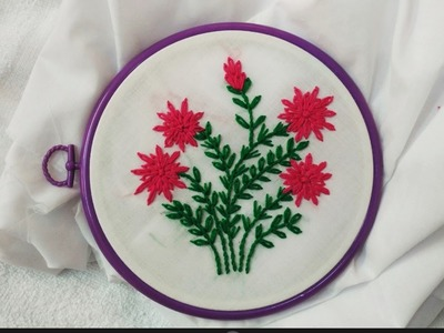 Hand Embroidary - Lazy Daisy and Stem Stitch