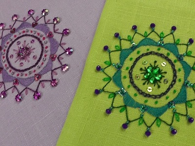 Hand Embroidery - Beginners stitching project - Mandala