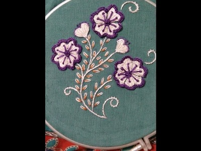 Hand embroidery flower 2