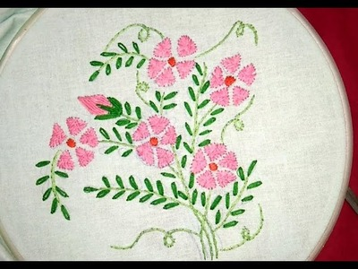 Hand embroidery: flower with simple stitch