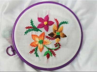 Hand Embroidery - Raised Fishbone and Feather Stitch