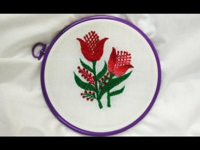 Hand Embroidery - Romanian and French knot Stitch
